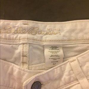 Eddie Bauer white Capri jeans
